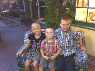 Skyler with his borther and sister Sept 2010